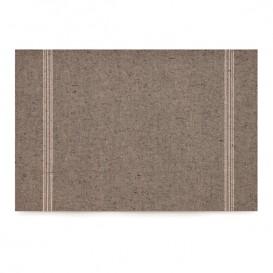 """Papírové Prostírání """" Day Drap """" Tmavě Hnědá 32x45cm (12 Kousky)"""