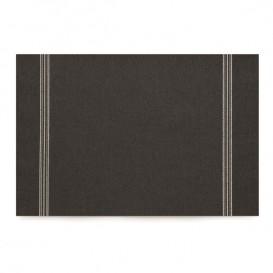 """Papírové Prostírání """" Day Drap """" Černá 32x45cm (72 Kousky)"""