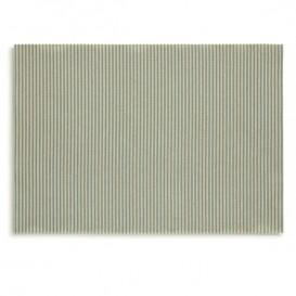 """Papírové Prostírání """" Day Drap """" Zelené Čáry 32x45cm (12 Kousky)"""
