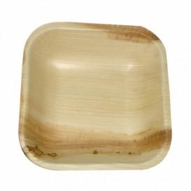 Mini Talíř Čtvercový z Palmových Listů 10x10x2,5cm (25 Kousky)