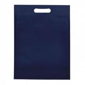 Plátěná Taška TNT s Průhmatem Námořnická Modrá 30+10x40cm (25 Kousky)