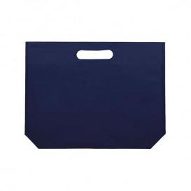 Plátěná Taška TNT s Průhmatem Elektrická Modrá 34+8x26cm (25 Kousky)