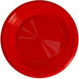 Talíř Kukuřičný Škrob PLA Plochá Červené Ø220 mm (25 Kousky)