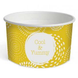 """Kartonová Miska na Zmrzlinu 5oz/140ml """" Cool&Yummy """" (1000 Kousky)"""