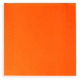 Papírové Ubrousky na Koktejl 20x20cm 2 Vrstvy Oranžový (100 Kousky)