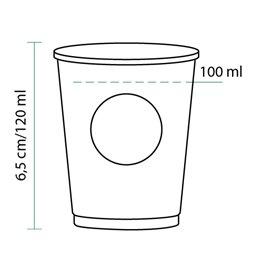 Kartonové Kelímek Eco BioWare PLA 4Oz/120ml Ø6,2 cm (80 Kousky)