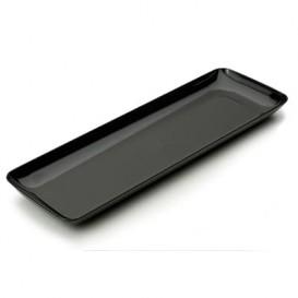 Podnos Plastový pro Ochutnávky Černá 6x19 cm (20 Kousky)