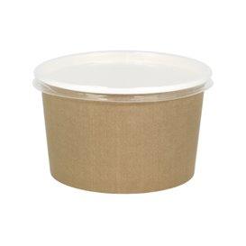 Kartonová Miska Kraft s Víčko PP 16 Oz/473 ml (500 Ks)