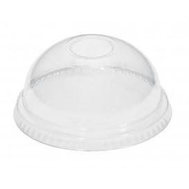 Plastové Víčko na Kelímek Vypouklé bez Otvoru PET Krystal Ø8,1cm (100 Kousky)