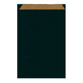 Papírová Kraft Obálka Černá 26+9x38cm (125 Kousky)