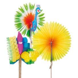 Dekorace na Zmrzlinu Čínský Deštník 10,7cm (144 Kousky)