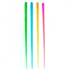Míchátko na Nápoje Plastové Fluorescenční 175mm (100 Kousky)