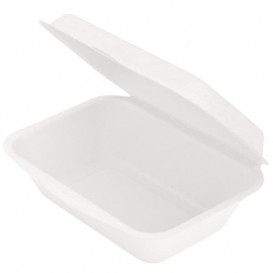Menu Box z Cukrové Třtiny Bílý 136x182x64mm (1000 Kousky)
