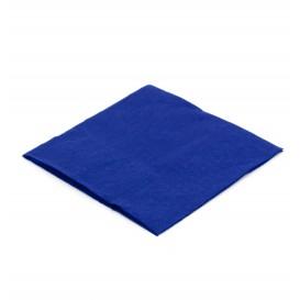 Papírové Ubrousky na Koktejl 20x20cm Modrý (100 Kousky)