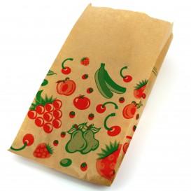 Ovocná Tašky Kraft 14+7x28cm (100 Kousky)