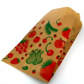 Ovocná Tašky Kraft 18+10x28cm (100 Kousky)